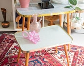 Mid-Century Cocktail Table in Pastel Colors
