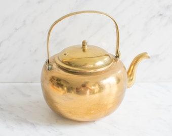 Brass teapot or coffee pot