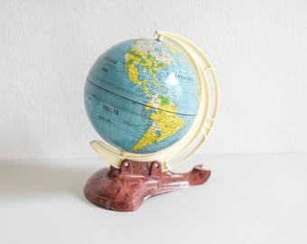 Vintage globe, globe 60s, M+S globe, teaching material, geography, graduation gift, traveler gift, 60s home decor