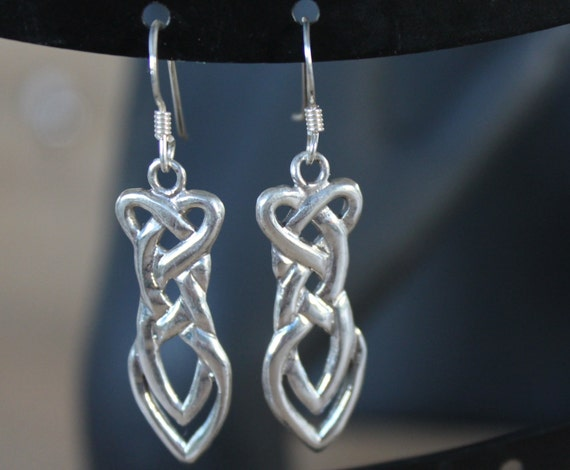 Hand made Sterling Silver Celtic Knot Infinity Earrings