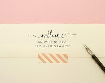 Custom Address Stamp - Thin Line Name Self Inking Return Address Stamp