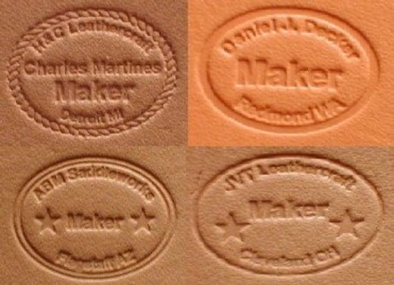 Personifizierte Leder Hersteller Stempel Etsy
