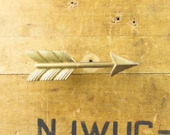 Large Gold Metal Arrow Drawer Pull Vintage Style Kitchen Cabinet Handle Antique Gold Finish Hardware Cabinet Knob 11040