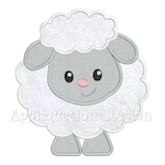 Baby Lamb Applique Machine Embroidery Design Spring Easter INSTANT DOWNLOAD