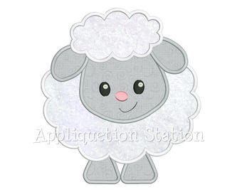 07f99f33e070a1 Baby Lamb Applique Machine Embroidery Design Spring Easter INSTANT DOWNLOAD