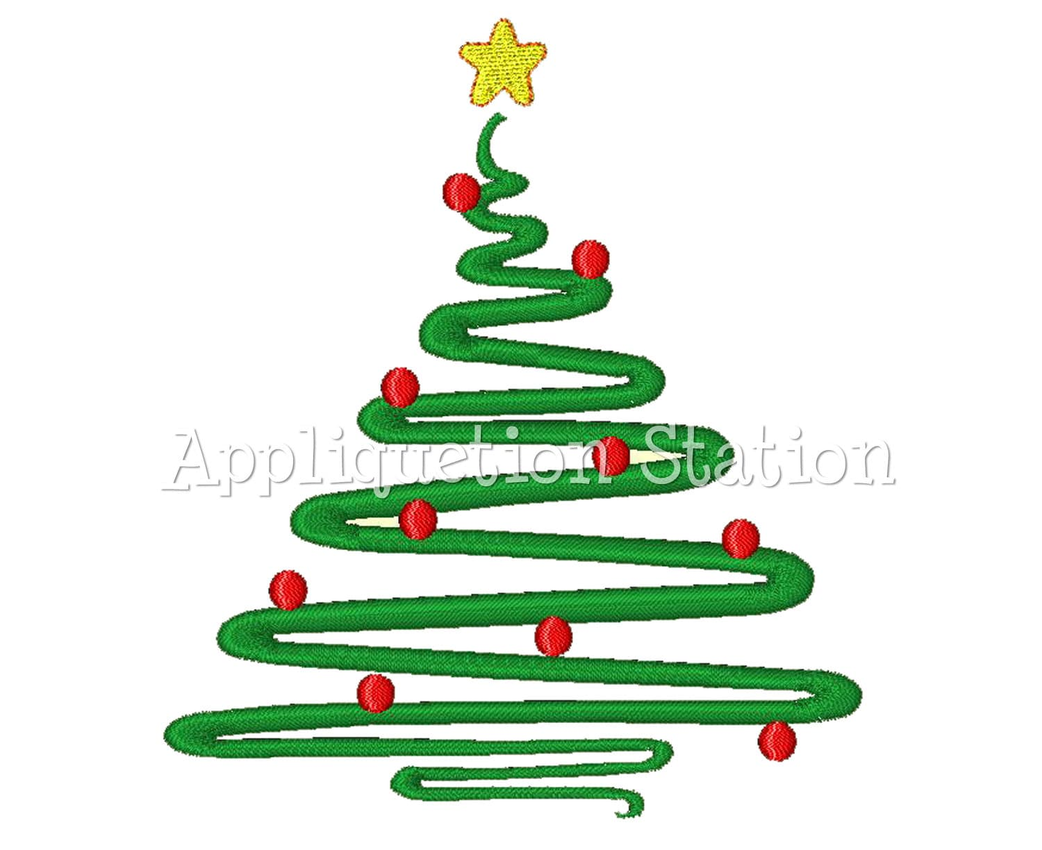 christmas tree abstract contemporary machine embroidery design etsy