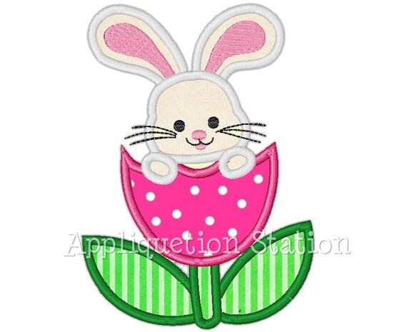 Embroidery Design 5 Different Sizes for Instant Download Easter bunny Applique