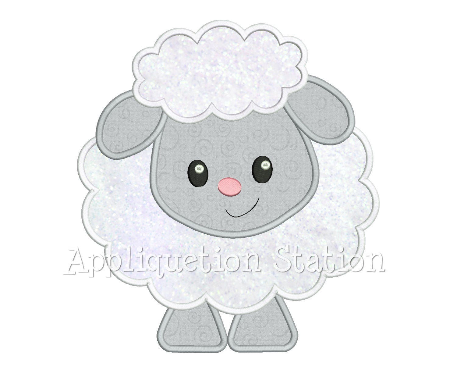 Baby Lamb Applique Machine Embroidery Design Spring Easter | Etsy
