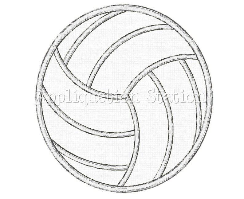 Volleyball Applique Machine Embroidery Design Boy Sports Ball