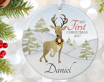 Babys First Ornament Gift For New Baby Gift For Baby Shower Gifts For Newborn Gift For Adoption Gift My First Christmas Rustic Ornament