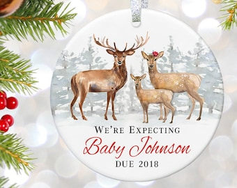 Expecting Parents Christmas Ornament, New Parents Ornament, New Baby Ornament, We're Expecting Ornament, Pregnancy Gift