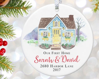 Our First Home, New Home Housewarming Gift, House Warming Gift, Personalized Address Sign, New Home Gift, New Homeowner Gift