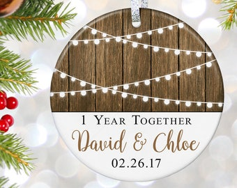 Boyfriend Christmas Gift First Christmas Together Ornament Boyfriend and Girlfriend Gift for Couples Ornament 1st Christmas Together