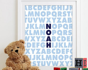 Baby Boy Art Boy Nursery Art Wall Decor Subway Art Baby Boy Nursery Baby Name Art Baby Name Nursery