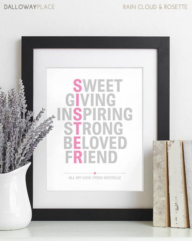 Schwester-Weihnachts-Geschenk für Schwester Geschenk | Etsy