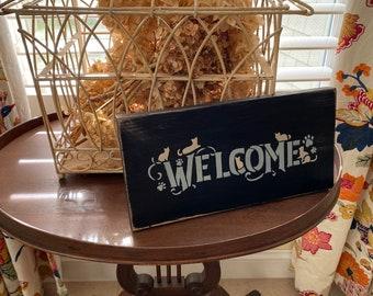 WELCOME Handmade Wood Sign