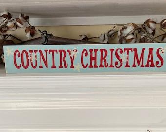 Country Christmas Handmade Wood Sign