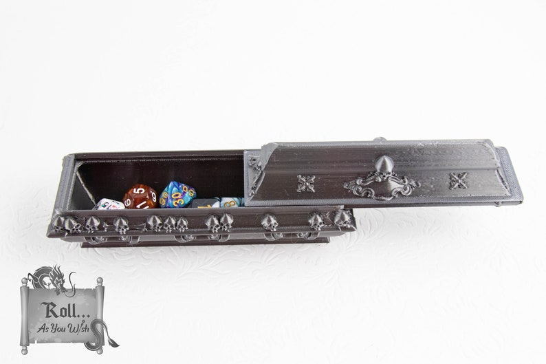 Ready to ship coffin dice box Mythic Mugs RPG table top  Gaming Accessory Dungeons and Dragons