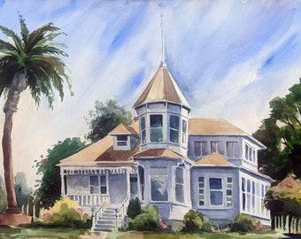 Newland House Original Watercolor