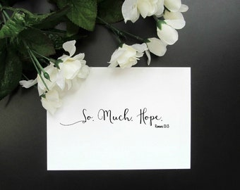"Romans 15:13 So Much Hope Print - Minimalist Scripture Modern Wall Decor 5x7"" or 8x10"" Print"