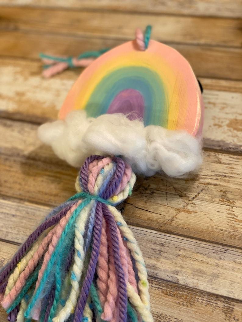 Wood Rainbow Wall Decor ~ Rainbow Decor ~ Tassel Rainbow