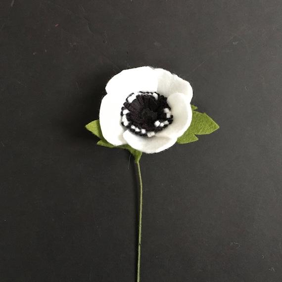 Felt Anemone Build Your Own Bouquet Felt Flowers A La Carte
