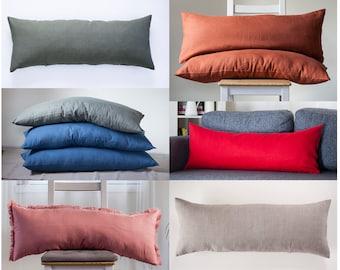 Custom color long lumbar pillow COVER, custom size lumbar pillow