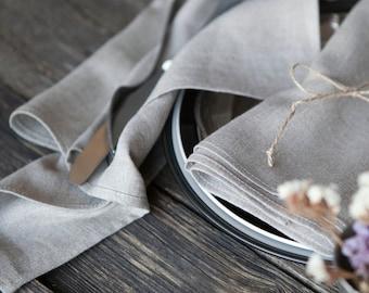Stonewashed linen napkins set of 12, natural linen cloth napkins, wedding napkins bulk, 12x12 inch size   0233