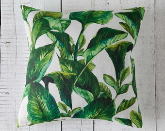 Banana leaf pillow, throw pillows cover for sofa decorative pillows collection 18x18 inch size