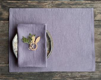 Linen placemats, Various colors available, Linen placemat set, Linen placemats for table decor, Set of 2,4,6,8,10 or 12 linen place mats.