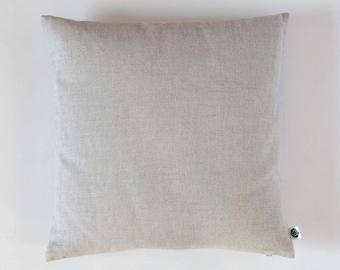 Linen pillow case - natural fabric pillow cover - light grey - decorative covers - throw pillows - shams 0080