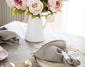 Linen tablecloth, custom tablecloths, wedding tablecloth, farmhouse tablecloth, party decor tablecloth, tablecloths  55x98 inch size,  0231