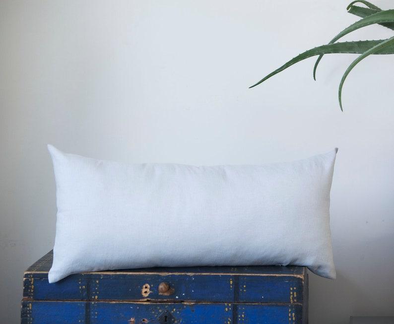 Silver gray Long lumbar pillow cover grey lumbar pillowcase image 0