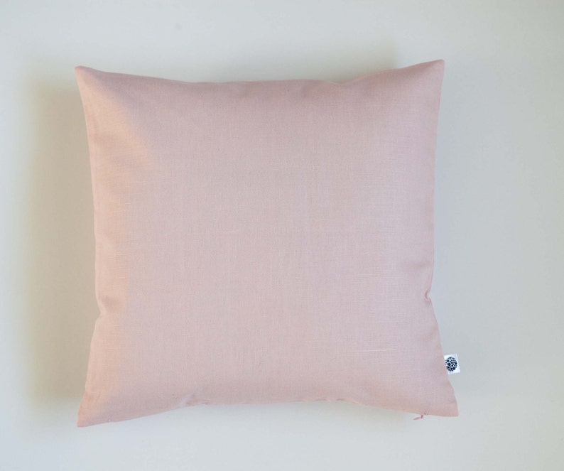 Blush pink pillow cover pink decorative pillow cover for dorm image 1