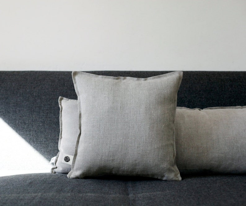 Linen pillow cover   hygge decorative pillow covers throw image 0