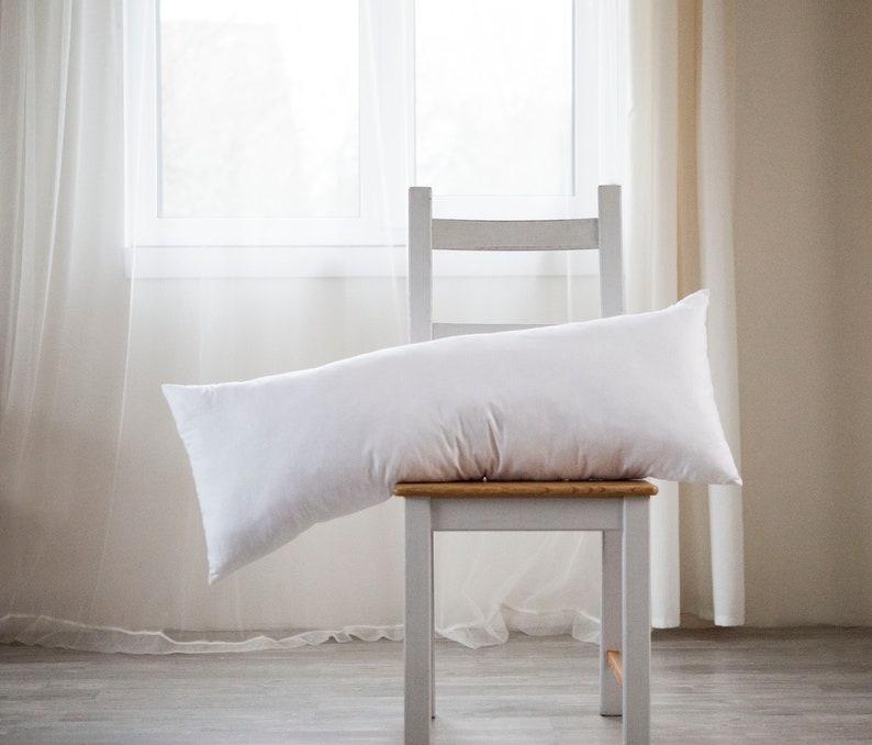 Lumbar pillow insert Synthetic fill Custom size long lumbar image 0