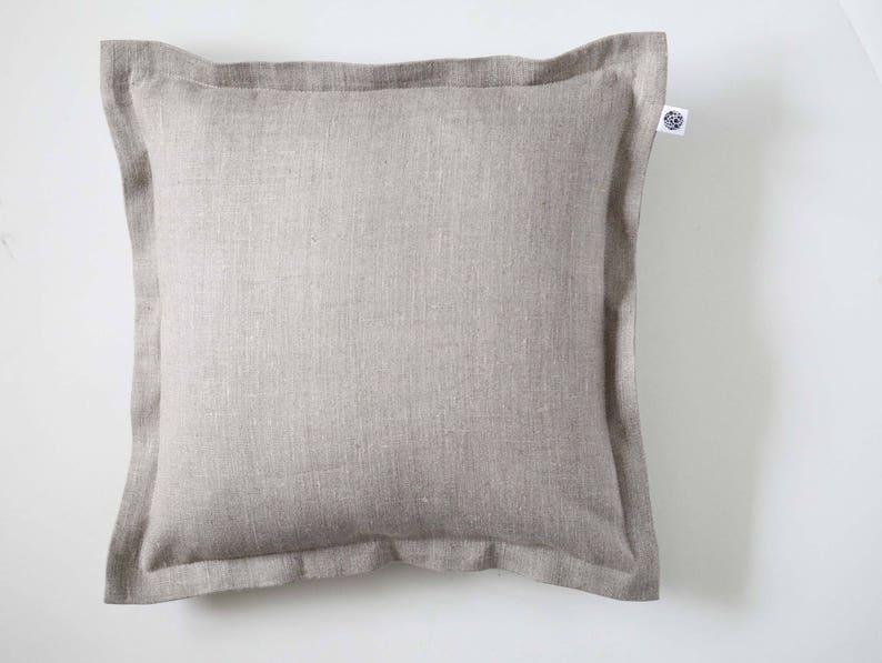 Linen Pillow Cover Linen Cushion Linen Pillowcase Throw image 0