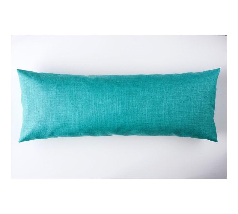 Lumbar pillow blue turquoise long lumbar throw pillows image 0
