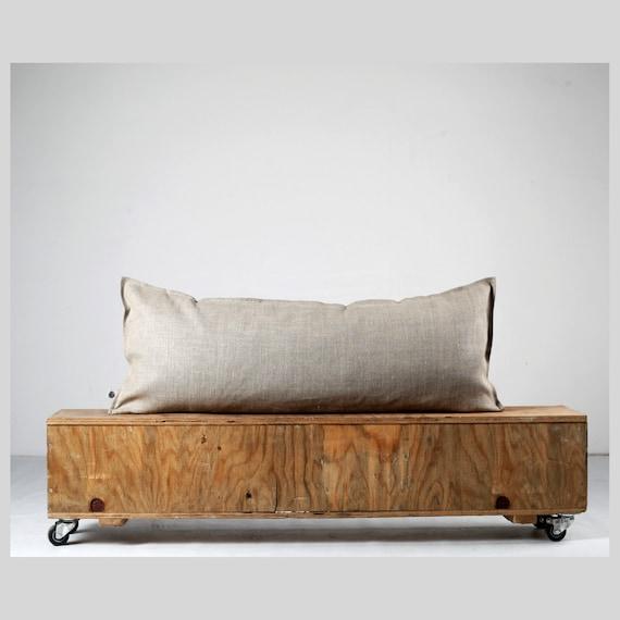Lumbar pillow cover - linen euro sham, linen pillow cover, linen cushion, linen bench cushion, linen bedding, trendy pillows  0024