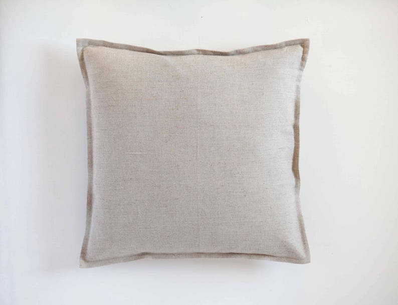 Linen throw pillow cover decorative