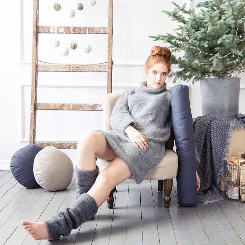Bolster pillow custom size bolster cushion for living room Gray 983 Main photo