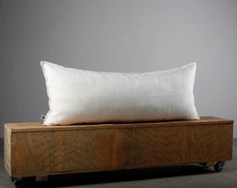 Long lumbar pillow cover, white pillow 36x14, 26x14, 36x16, 26x16 white lumbar pillow  0028