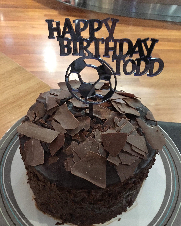 Acrylic Birthday Cake Topper Custom Made With Happy