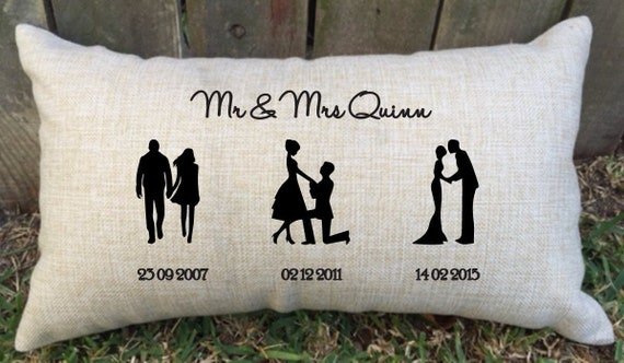 Mr Silhouette Couple Pillow Case Cover