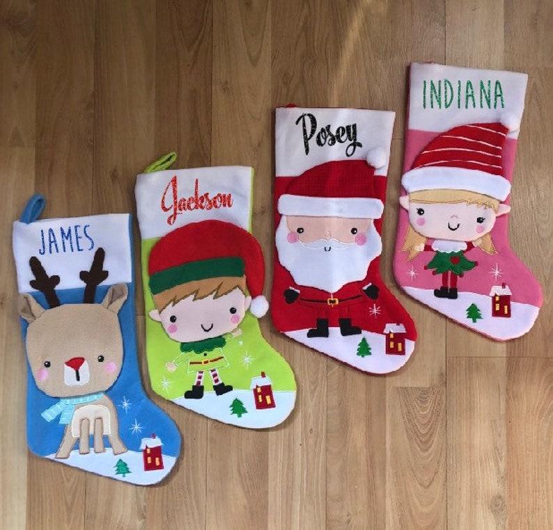 ea24451a26b8 Adorable custom Christmas stockings. High quality felt with 3D