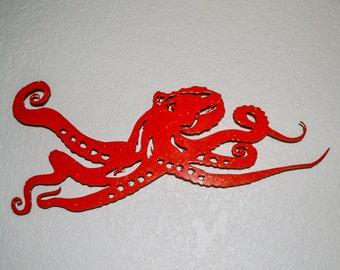 Octopus Metal Wall Art, Kraken, Metal Art, Sign, Sea Life