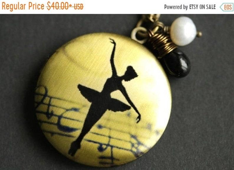 VALENTINE SALE Ballerina Locket Necklace. Ballet Necklace with image 0