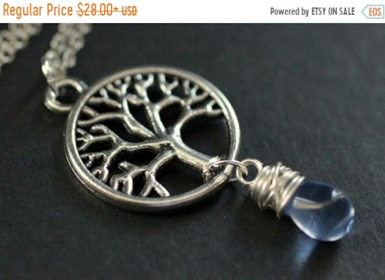 HALLOWEEN SALE Tree Necklace in Silver. Tree of Life Necklace. image 0