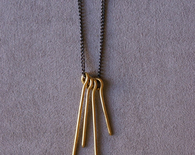Spark Necklace in Brass