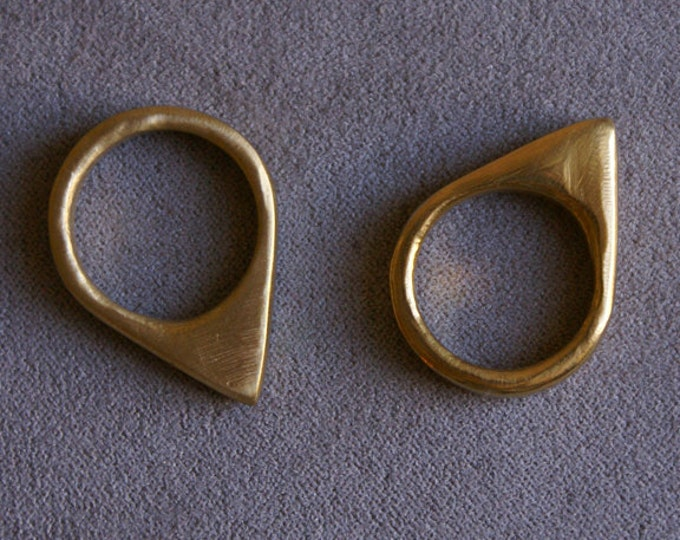 Spike Ring in Brass